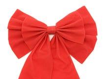 Red ribbon detail on white Stock Photos