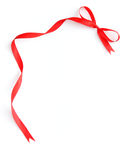 Red ribbon frame Royalty Free Stock Photography