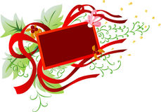 Red Ribbon Frame  Banner Royalty Free Stock Image