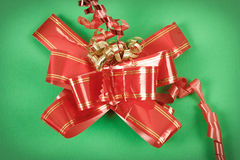 Red ribbon on gift Royalty Free Stock Photography