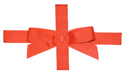 Red ribbon for a gift. Red ribbon for gifts, isolated against white ready for use in any design Royalty Free Stock Images