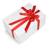 Red ribbon gift Royalty Free Stock Photo