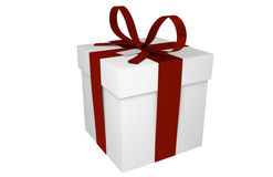 Red Ribbon Gift Stock Photography