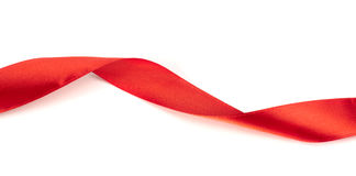 Red ribbon for gift wrap Stock Image