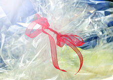 Red ribbon for gift wrapping Stock Photography