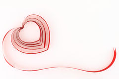 Red ribbon heart Royalty Free Stock Images