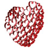 Red ribbon heart Royalty Free Stock Photo