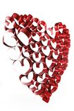 Red ribbon heart Stock Photos