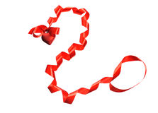Red ribbon heart Royalty Free Stock Image