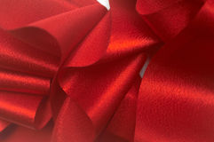 Red ribbon I. An image with a red ribbon Stock Images