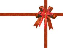 Red Ribbon isolated for gift box or christmas decoration Royalty Free Stock Photos