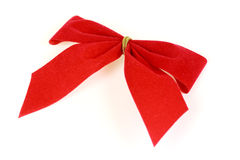 Red Ribbon,isolated On White Royalty Free Stock Image