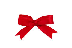 Red ribbon isolated Stock Images