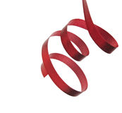 Red ribbon isolated on white background Royalty Free Stock Photo