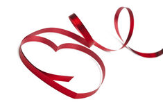 Red ribbon isolated on white background Stock Photos