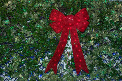 Red Ribbon and Leaves Royalty Free Stock Photos