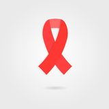 Red ribbon like concept of 1 Dec world AIDS day Stock Images