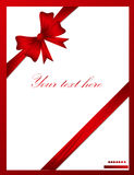 Red ribbon with loop Stock Photography