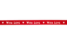 Red ribbon With love isolated Stock Photos