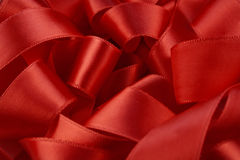 Red ribbon macro Royalty Free Stock Image