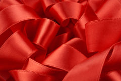 Red ribbon macro Stock Photo