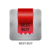Red ribbon mobile app button Stock Photos