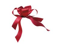 Red Ribbon Multiple loops Stock Photo