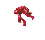 Red ribbon multiple loops Stock Image