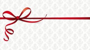 Red Ribbon Ornaments Wallpaper Royalty Free Stock Image