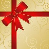 Red Ribbon Package Abstract Stock Image