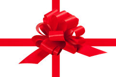 Red ribbon for present Stock Photos