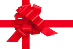 Red ribbon for present Royalty Free Stock Image