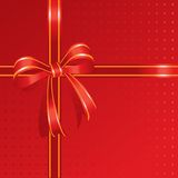 red ribbon- present box Stock Photography