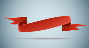 Red ribbon. Realistic red ribbon with a copyspace for your text. EPS10 Stock Photos