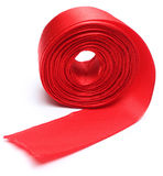 Red ribbon roll Stock Photography