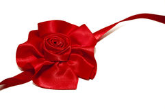 Red ribbon rose royalty free stock photo