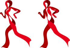 Red Ribbon Runners Royalty Free Stock Photography