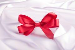 Free Red Ribbon Satin Bow Stock Image - 48821891