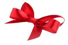 Red ribbon satin bow Royalty Free Stock Image