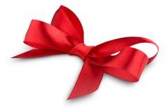 Red ribbon satin bow Stock Image
