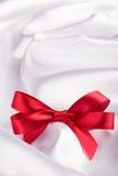 Red ribbon satin bow Royalty Free Stock Photos