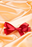 Red ribbon satin bow Royalty Free Stock Photography