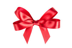 Red ribbon satin Stock Images