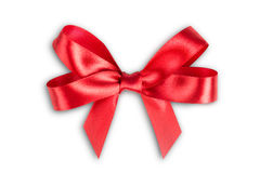 Red ribbon satin Royalty Free Stock Images
