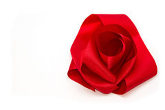 Red ribbon satin bows Stock Photo