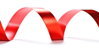 Red ribbon serpentine Royalty Free Stock Photos
