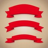 Red ribbon set Stock Image