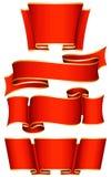 Red ribbon set Stock Photo