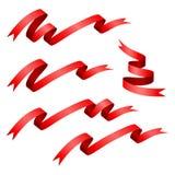 Red ribbon set Stock Photography