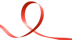 Red ribbon in the shape of loop Stock Images